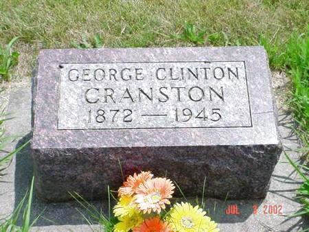 CRANSTON, GEORGE CLINTON - Pottawattamie County, Iowa   GEORGE CLINTON CRANSTON