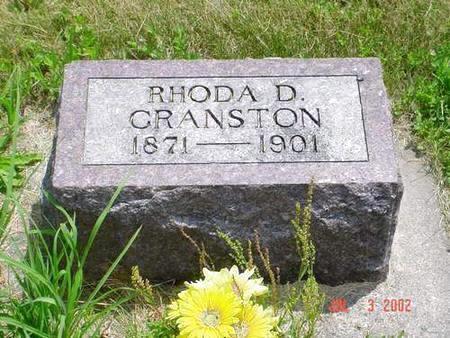CRANSTON, RHODA D. - Pottawattamie County, Iowa   RHODA D. CRANSTON