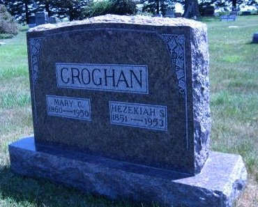 CROGHAN, HEZEKIAH S - Pottawattamie County, Iowa   HEZEKIAH S CROGHAN