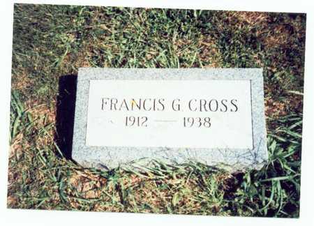 CROSS, FRANCIS G. - Pottawattamie County, Iowa | FRANCIS G. CROSS