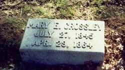 CROSSLEY, MARY E. - Pottawattamie County, Iowa   MARY E. CROSSLEY