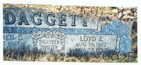 DAGGETT, LOYD E. - Pottawattamie County, Iowa   LOYD E. DAGGETT