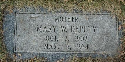 DEPUTY, MARY W. - Pottawattamie County, Iowa | MARY W. DEPUTY