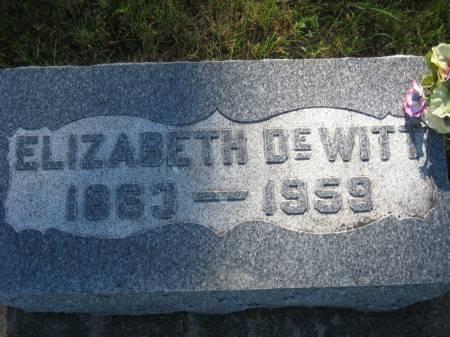DEWITT, ELIZABETH - Pottawattamie County, Iowa   ELIZABETH DEWITT