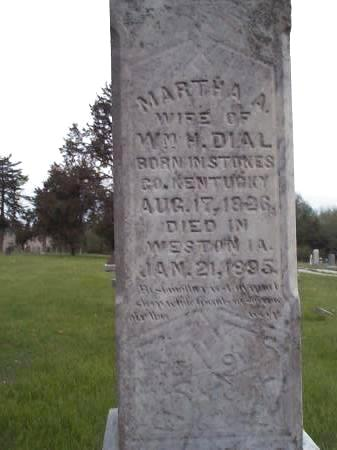 DIAL, MARTHA A. - Pottawattamie County, Iowa | MARTHA A. DIAL
