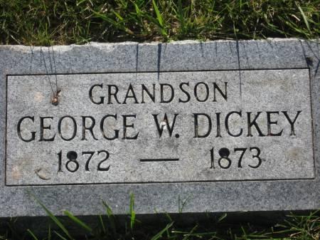 DICKEY, GEORGE W. - Pottawattamie County, Iowa   GEORGE W. DICKEY