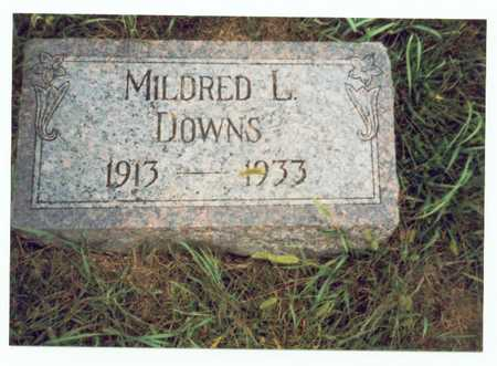 DOWNS, MILDRED L. - Pottawattamie County, Iowa | MILDRED L. DOWNS