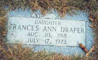 DRAPER, FRANCES ANN - Pottawattamie County, Iowa   FRANCES ANN DRAPER
