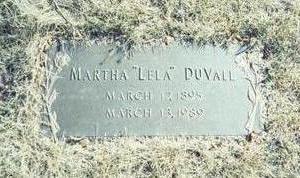 DUVALL, MARTHA