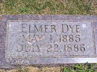DYE, ELMER - Pottawattamie County, Iowa   ELMER DYE