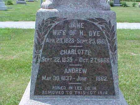 DYE, CHARLOTTE - Pottawattamie County, Iowa | CHARLOTTE DYE