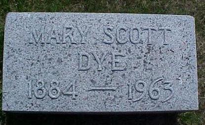 SCOTT DYE, MARY - Pottawattamie County, Iowa | MARY SCOTT DYE