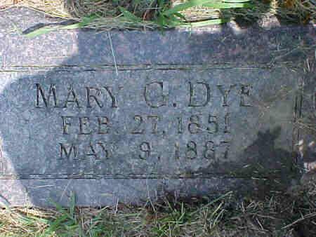 SNAPP DYE, MARY G. - Pottawattamie County, Iowa | MARY G. SNAPP DYE
