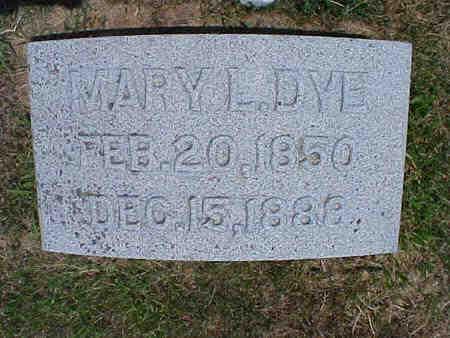 DYE, MARY L. - Pottawattamie County, Iowa | MARY L. DYE