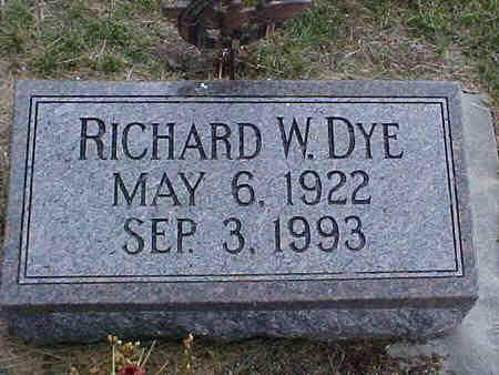 DYE, RICHARD W. - Pottawattamie County, Iowa | RICHARD W. DYE