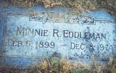 EDDLEMAN, MINNIE R. - Pottawattamie County, Iowa   MINNIE R. EDDLEMAN