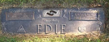 EDIE, JOHN A. - Pottawattamie County, Iowa   JOHN A. EDIE