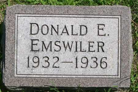 EMSWILER, DONALD E. - Pottawattamie County, Iowa | DONALD E. EMSWILER