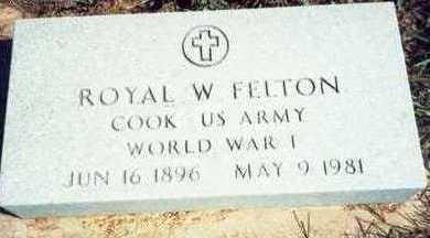 FELTON, ROYAL W. - Pottawattamie County, Iowa   ROYAL W. FELTON