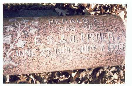 FISHER, HERALD E. - Pottawattamie County, Iowa | HERALD E. FISHER