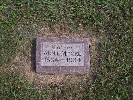 FORD, ANNIE M. - Pottawattamie County, Iowa   ANNIE M. FORD