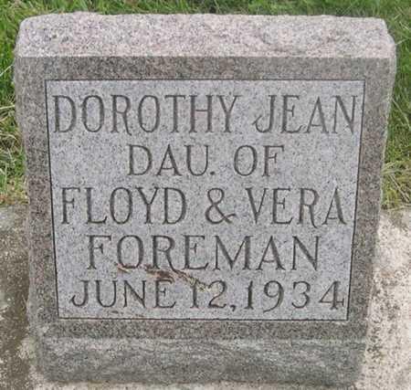 FOREMAN, DOROTHY JEAN - Pottawattamie County, Iowa | DOROTHY JEAN FOREMAN