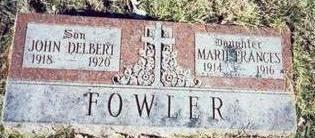FOWLER, MARIE FRANCES - Pottawattamie County, Iowa | MARIE FRANCES FOWLER