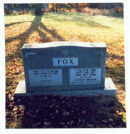 FOX, ESTHER MIRIAM - Pottawattamie County, Iowa | ESTHER MIRIAM FOX