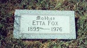 FOX, ETTA - Pottawattamie County, Iowa | ETTA FOX