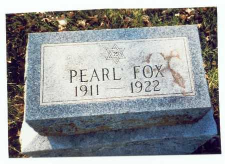 FOX, PEARL - Pottawattamie County, Iowa   PEARL FOX