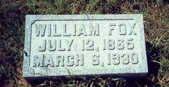 FOX, WILLIAM - Pottawattamie County, Iowa | WILLIAM FOX