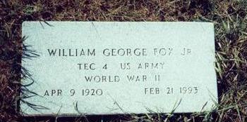 FOX, WILLIAM GEORGE JR. - Pottawattamie County, Iowa   WILLIAM GEORGE JR. FOX
