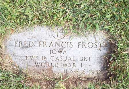 FROST, FRED FRANCIS - Pottawattamie County, Iowa | FRED FRANCIS FROST