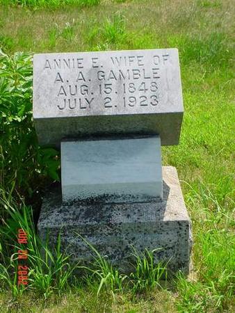 GAMBLE, ANNIE E. - Pottawattamie County, Iowa | ANNIE E. GAMBLE