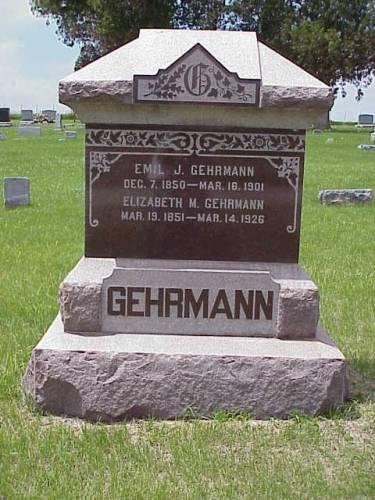 GEHRMANN, EMIL J. & ELIZABETH M. - Pottawattamie County, Iowa | EMIL J. & ELIZABETH M. GEHRMANN