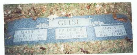 GEISE, FREDERICK - Pottawattamie County, Iowa | FREDERICK GEISE
