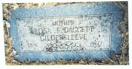 GILDERSLEEVE, ROSA F. DAGGETT - Pottawattamie County, Iowa   ROSA F. DAGGETT GILDERSLEEVE
