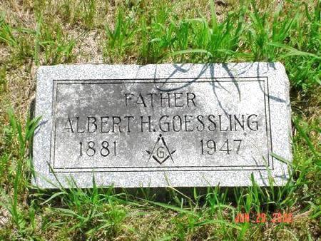 GOESSLING, ALBERT H. - Pottawattamie County, Iowa   ALBERT H. GOESSLING