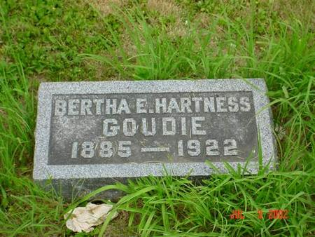 GOUDIE, BERTHA E. HARTNESS - Pottawattamie County, Iowa | BERTHA E. HARTNESS GOUDIE