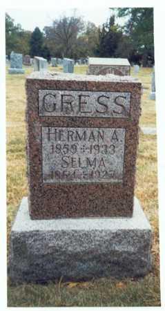 GRESS, HERMAN A. - Pottawattamie County, Iowa | HERMAN A. GRESS