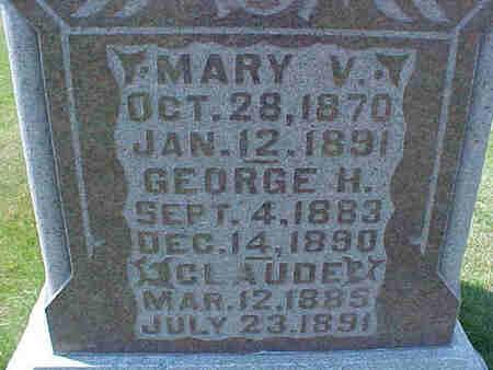 GRIFFIS, MARY V. - Pottawattamie County, Iowa   MARY V. GRIFFIS