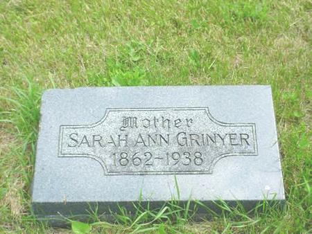 GRINYER, SARAH ANN - Pottawattamie County, Iowa | SARAH ANN GRINYER