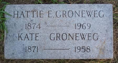 GRONEWEG, HATTIE E. - Pottawattamie County, Iowa | HATTIE E. GRONEWEG