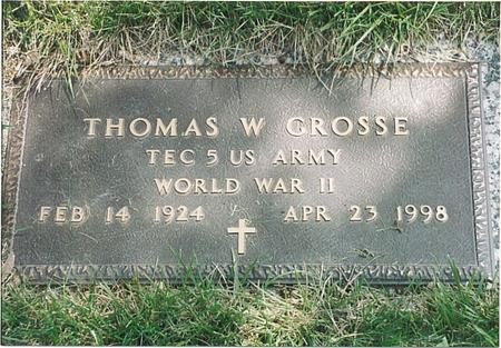 GROSSE, THOMAS W - Pottawattamie County, Iowa | THOMAS W GROSSE