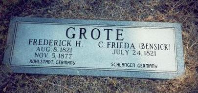 BENSICK GROTE, C. FRIEDA - Pottawattamie County, Iowa | C. FRIEDA BENSICK GROTE