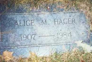 HAGER, ALICE M. - Pottawattamie County, Iowa | ALICE M. HAGER