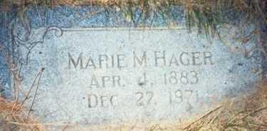 HAGER, MARIE M. - Pottawattamie County, Iowa | MARIE M. HAGER