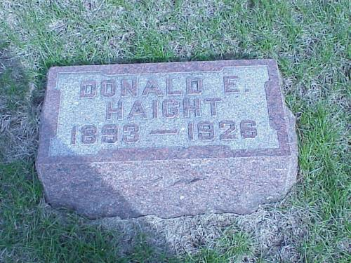 HAIGHT, DONALD E. - Pottawattamie County, Iowa | DONALD E. HAIGHT