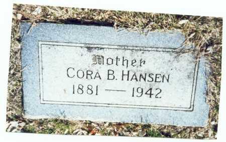 HANSEN, CORA B. - Pottawattamie County, Iowa | CORA B. HANSEN