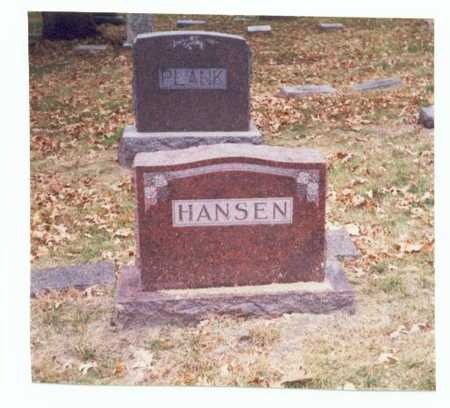 HANSEN, FAMILY MARKER - Pottawattamie County, Iowa   FAMILY MARKER HANSEN